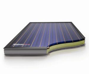 Solar flat panel cross section