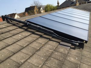Viessmann flat panels on roof